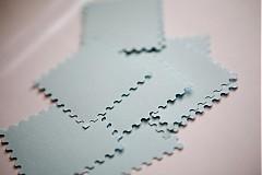 Papiernictvo - Bledomodré menovky na svadbu - 3013717