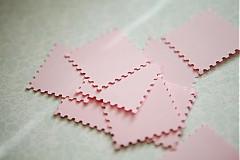 Papiernictvo - Svetloružové menovky na svadbu - 3013924