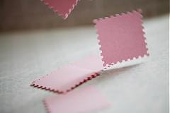 Papiernictvo - Svetloružové menovky na svadbu - 3013925