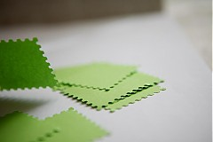 Papiernictvo - Zelené menovky na svadbu - 3014115