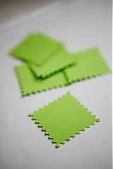 Papiernictvo - Zelené menovky na svadbu - 3014116
