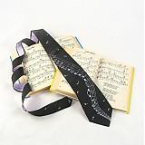 - Černá kravata s fialovými notami - 302073