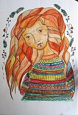Kresby - červienka si obliekla sveter - 3025999