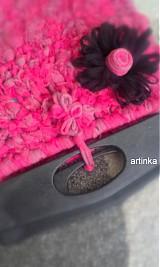 "Kabelky - Kabelka  ""pink hooked spaghetti bags"" - 3030088"
