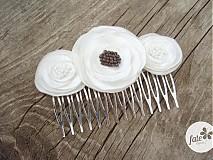 Ozdoby do vlasov - Svadobný hrebienok - 3031008