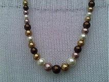 Náhrdelníky - Jesenný béžový náhrdelník. - 3040217