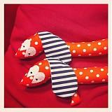 Hračky - Havkáčik jazvečíkový oranžový bodkovany - 3052937