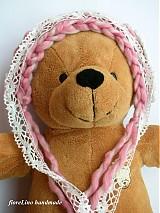 Detské čiapky - detská čiapka - ružová romantika - 3053114