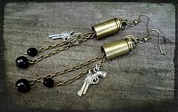 """- Náušnice """"Pre pištoľníčku"""" - 3054230"""
