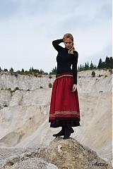 Sukne - Sukňa Red Wine - ZĽAVA! - 3054680