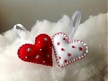 Dekorácie - Srdcia.. Red & White - 3056139