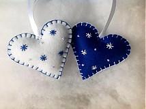 Vianoce - Srdcia.. Blue & White - 3056415