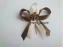 Pierka - svadobné pierko hnedo mandľové - 3057914