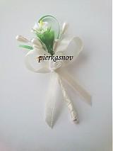 Pierka - svadobné pierko -  krémová kala - 3057939