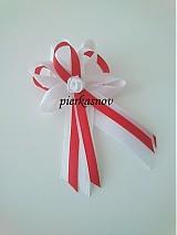 Pierka - Svadobné pierko - bielo červené - 3058057