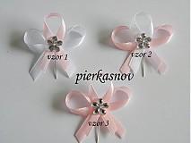 svadobné pieko - bielo - ružové so strieborným kamienkom