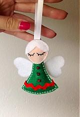 Vianoce - Vianočný anjelik (Green) - 3059598