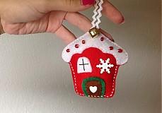 Vianoce - Vianočná chalúpka (Red) - 3059614