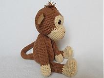 Návody a literatúra - Háčkovaná opička Julie - návod - 3063708