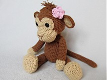 Návody a literatúra - Háčkovaná opička Julie - návod - 3063710