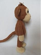Návody a literatúra - Háčkovaná opička Julie - návod - 3063711