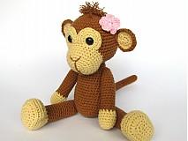 Návody a literatúra - Háčkovaná opička Julie - návod - 3063712