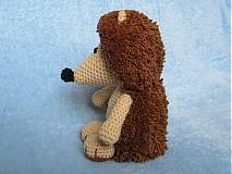 Návody a literatúra - Háčkovaný ježko - návod - 3063866