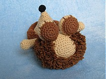 Návody a literatúra - Háčkovaný ježko - návod - 3063868