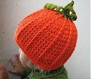 Detské čiapky - tekvička - 3070938