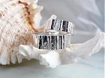 Prstene - Strieborné odlievané obrúčky - Šumenie sŕdc - 3072235