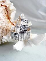 Prstene - Strieborné odlievané obrúčky - Šumenie sŕdc - 3072236