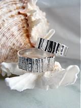 Prstene - Strieborné odlievané obrúčky - Šumenie sŕdc - 3072237