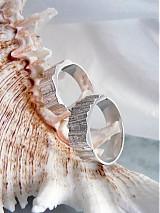 Prstene - Strieborné odlievané obrúčky - Šumenie sŕdc - 3072238