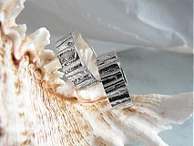 Prstene - Strieborné odlievané obrúčky - Šumenie sŕdc - 3072242