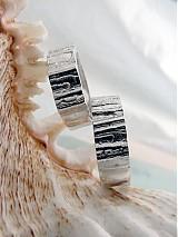 Prstene - Strieborné odlievané obrúčky - Šumenie sŕdc - 3072243