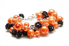 Náramky - Náramok - Orange and Blackberry - 3074621