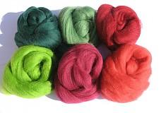 Textil - Vlna na plstenie Merino - vianočná 60 g - 3086337