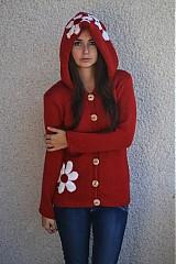Svetre/Pulóvre - tehlový kabátik - 3087273