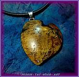 Náhrdelníky - 332. náhrdelník Jablůňkové Srdca - 3093997