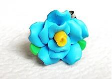 Prstene - tyrkysová ružička - 3099692