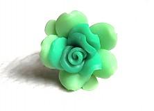 Prstene - zelená ružička - 3100425