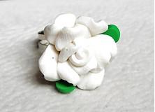 Prstene - biela ružička - 3100436