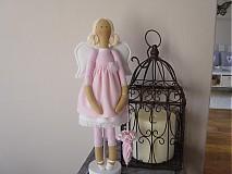 Bábiky - Ružový anjel - 3105406