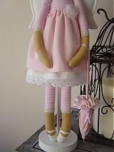 Bábiky - Ružový anjel - 3105407