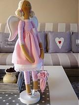 Bábiky - Ružový anjel - 3105408