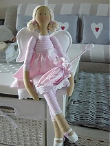 Bábiky - Ružový anjel - 3105429