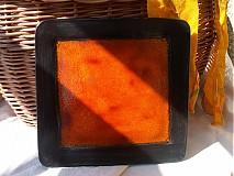 Nádoby - misa oranžovo čierna - 3107705