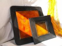 Nádoby - misa oranžovo čierna - 3107732