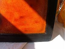 Nádoby - misa oranžovo čierna - 3107734