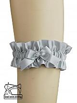 Saténový podväzok pre svadobné prádlo 0260